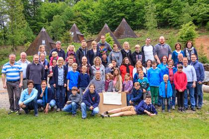 Gruppenfoto Pfingstlager 2015, © David Schölgens