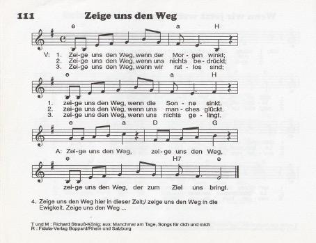 Lied Zeige uns den Weg