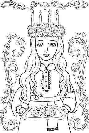 Ausmalbild der Heiligen Lucia