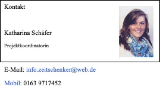 Visitenkarte Katharina Schäfer