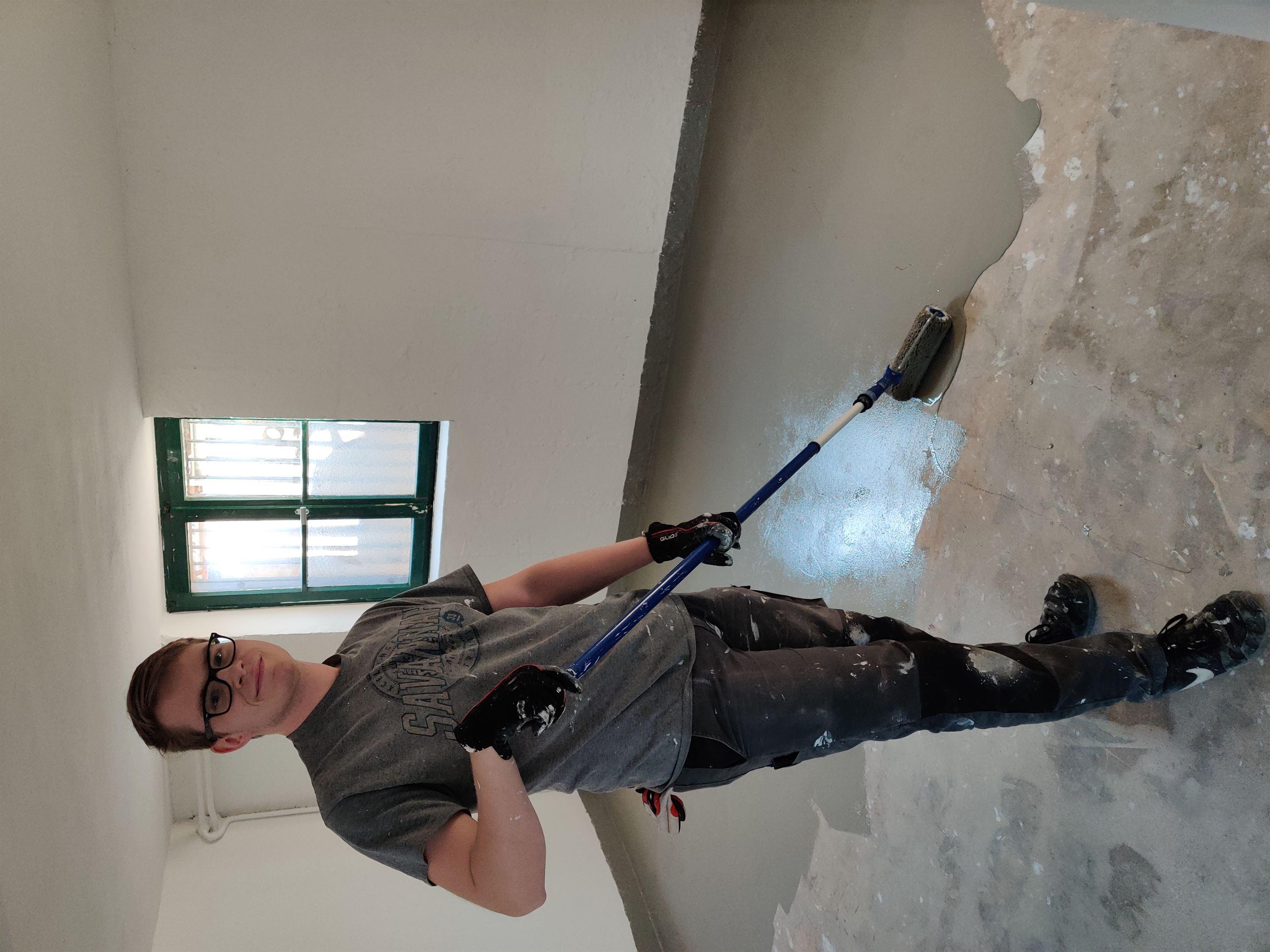 Wände und Fußboden wurden neu gestrichen