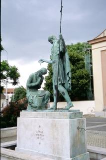 Der heilige Martin tauft seine Mutter